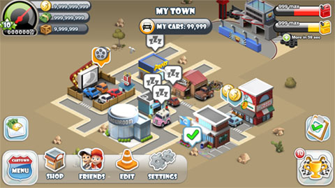 Car Town Streets - HUD